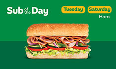 Sub of the day menu
