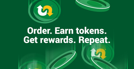 Order. Earn tokens. Get rewards. Repeat.